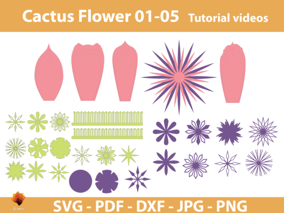 Download Free 7 Flower Template Svg Designs Graphics for Cricut Explore, Silhouette and other cutting machines.