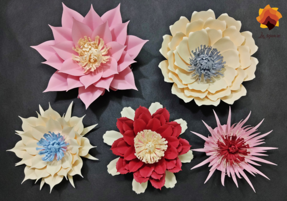 Download Free 05 Cactus Paper Flowers Graphic By Lasquare Info Creative Fabrica for Cricut Explore, Silhouette and other cutting machines.