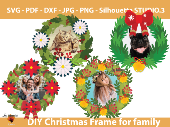 Download Free 06 Paper Christmas Wreath Templates Graphic By Lasquare Info SVG Cut Files