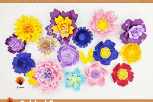 Print on Demand: 15 Folded Paper Flowers Templates Graphic 3D Flowers By lasquare.info