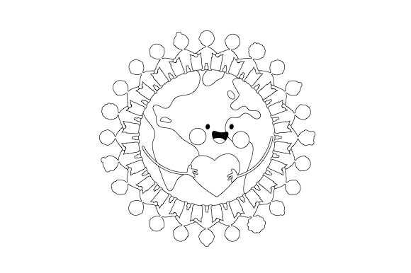 Earth Friendship Designs & Drawings Craft Cut File By Creative Fabrica Crafts - Image 2