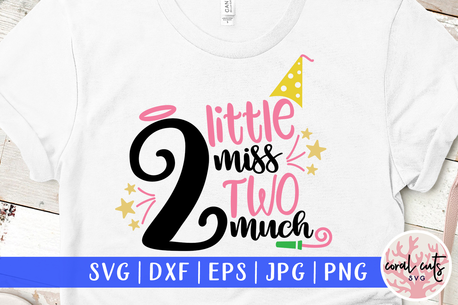 Download Free 2 Little Miss Two Much Graphic By Coralcutssvg Creative Fabrica for Cricut Explore, Silhouette and other cutting machines.