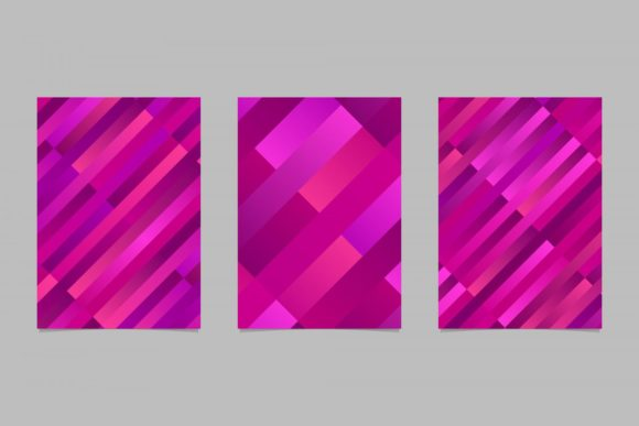 3 Gradient Rectangle Page Backgrounds Graphic Print Templates By davidzydd