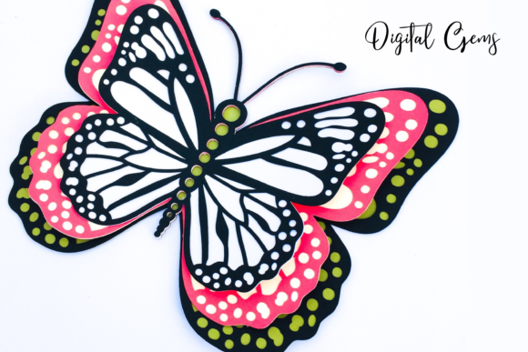 3d Butterfly Design Graphic 3D SVG By Digital Gems - Image 2