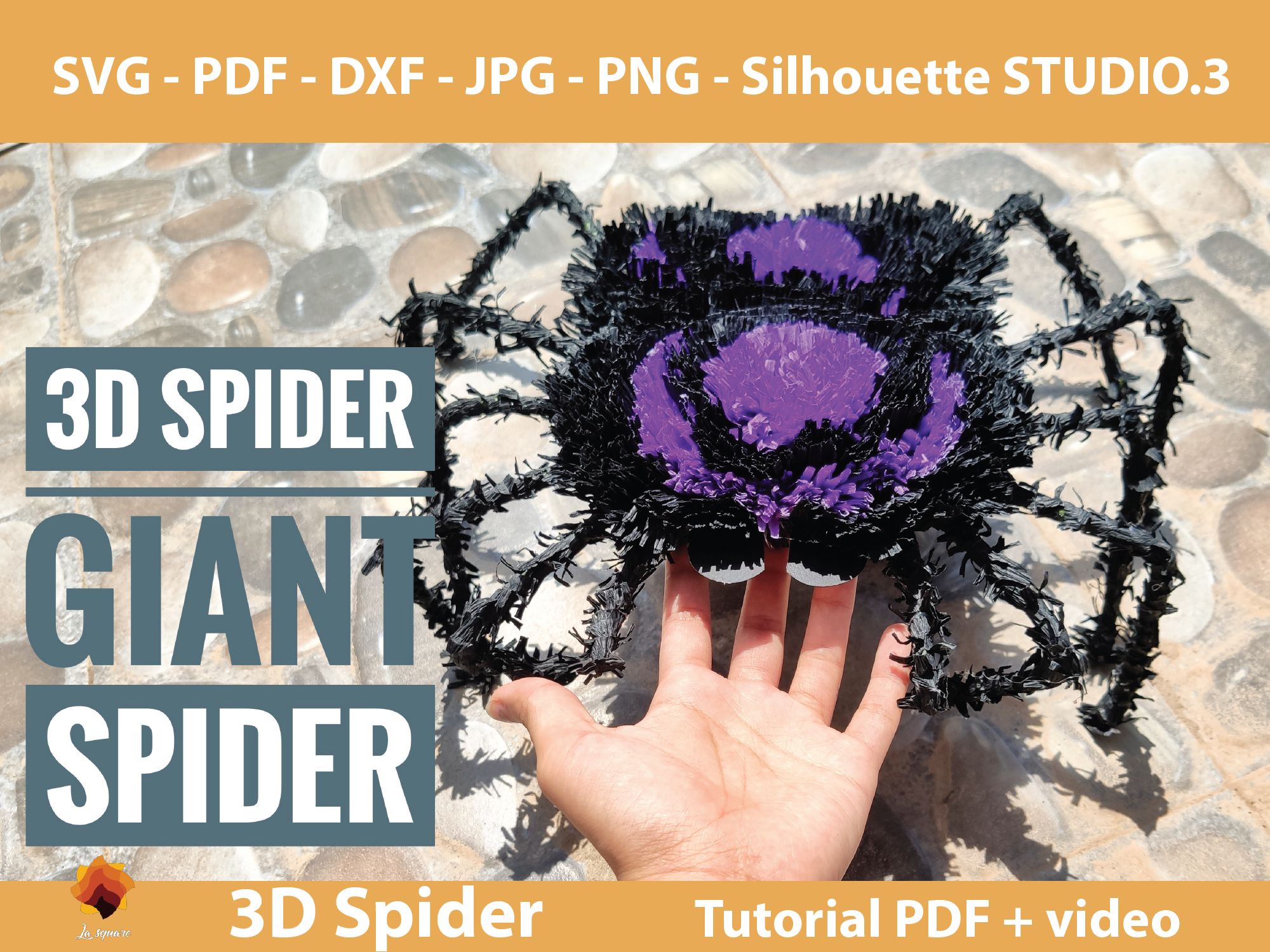 Download Free 3d Spider And Spider Flowers Templates Graphic By Lasquare Info for Cricut Explore, Silhouette and other cutting machines.