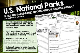 5-Day Writing Unit: U.S. National Parks Graphic 2nd grade By hi miss i