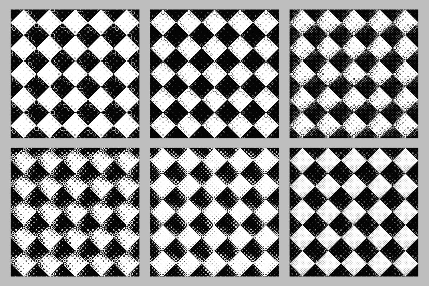 Download Free 6 Seamless Black And White Patterns Grafik Von Davidzydd for Cricut Explore, Silhouette and other cutting machines.