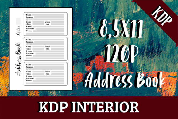 Print on Demand: Address Book | KDP Interior Graphic KDP Interiors By Hungry Puppy Studio