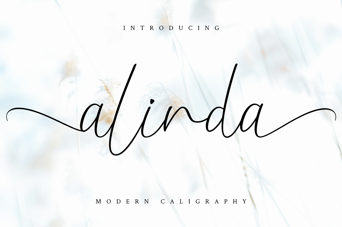 Download Free Alinda Font By Haffa Studio Creative Fabrica for Cricut Explore, Silhouette and other cutting machines.