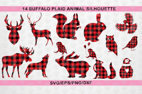 Download Free Animal Buffalo Plaid Graphic By Coralcutssvg Creative Fabrica for Cricut Explore, Silhouette and other cutting machines.