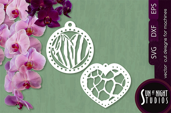 Download Free Animal Print Hearts Vector Cut Graphic By Sun At Night Studios for Cricut Explore, Silhouette and other cutting machines.