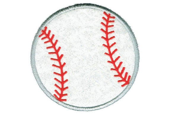 Baseball Round Coaster Sports Embroidery Design By Sue O'Very Designs