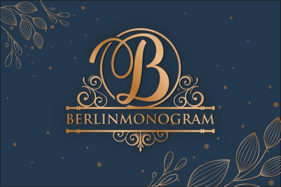 Print on Demand: Berlin Monogram Display Font By zainstudio