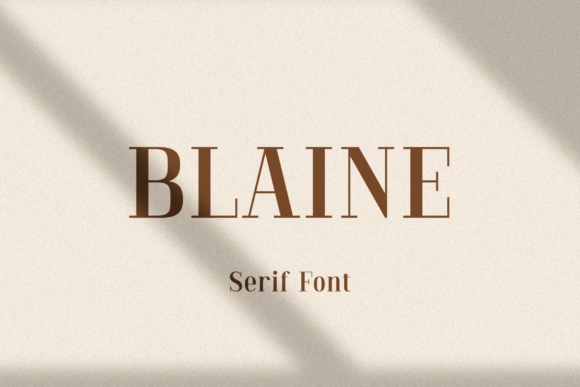 Print on Demand: Blaine Serif Font By Pasha Larin