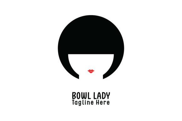 Download Free Bowl Lady Company Logo Vector Graphic By Yuhana Purwanti Creative Fabrica for Cricut Explore, Silhouette and other cutting machines.