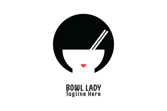 Bowl Lady Company Logo Vector Graphic By Yuhana Purwanti