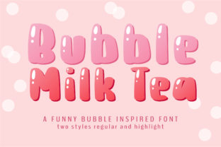Print on Demand: Bubble Milk Tea Display Font By BitongType