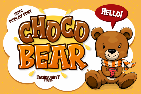 Print on Demand: Choco Bear Display Font By fachranheit