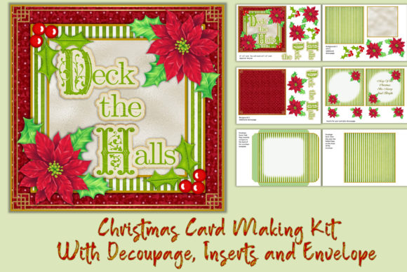 Download Free Christmas Card Making Kit With Clipart Graphic By Digitalcraftsco Creative Fabrica for Cricut Explore, Silhouette and other cutting machines.