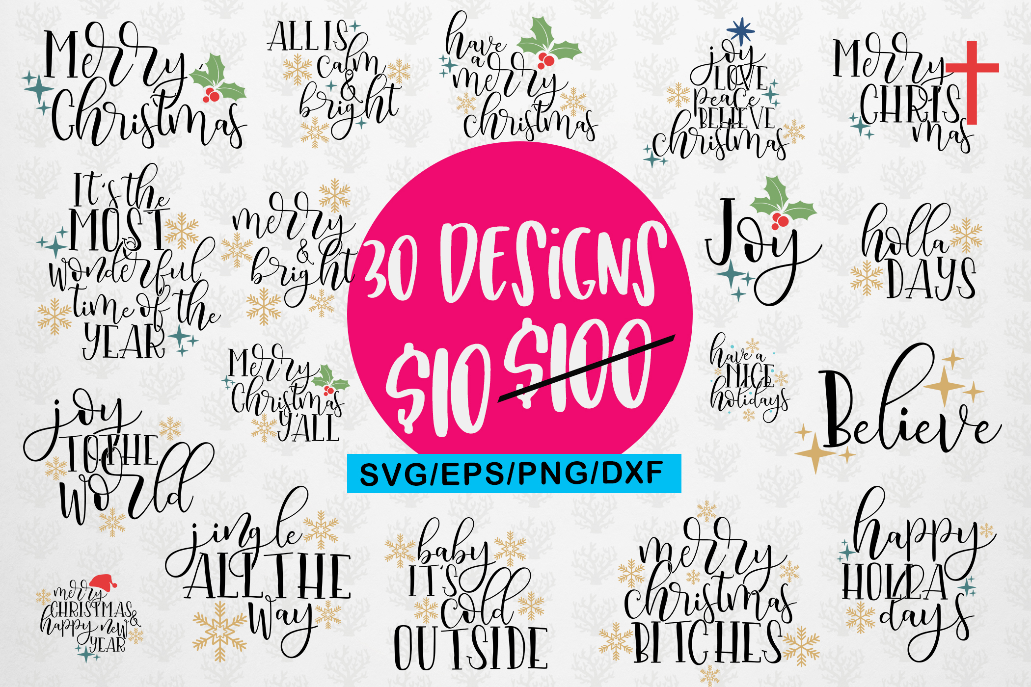 Download Free Christmas Quote Bundle Graphic By Coralcutssvg Creative Fabrica for Cricut Explore, Silhouette and other cutting machines.