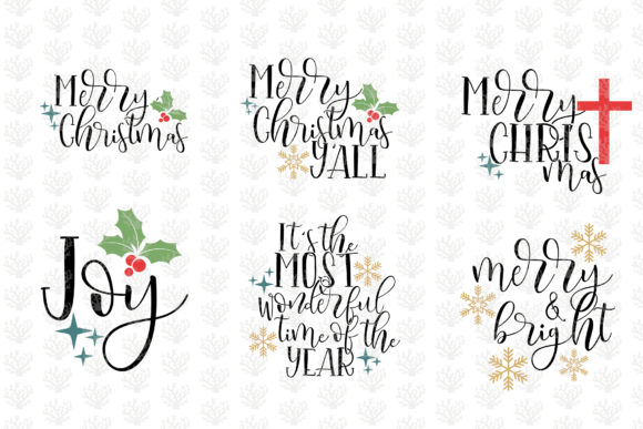 Christmas Quote Bundle Graphic By Coralcutssvg Creative Fabrica