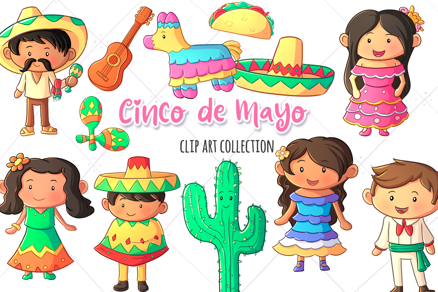 Download Free Cinco De Mayo Clip Art Collection Graphic By SVG Cut Files