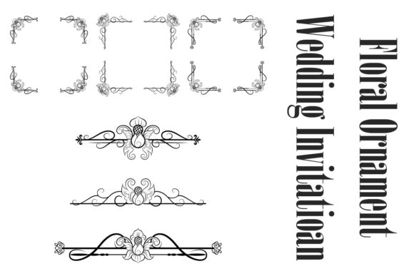 Print on Demand: Classic Vitage Wedding Vector Ornaments Graphic Objects By anomali.bisu