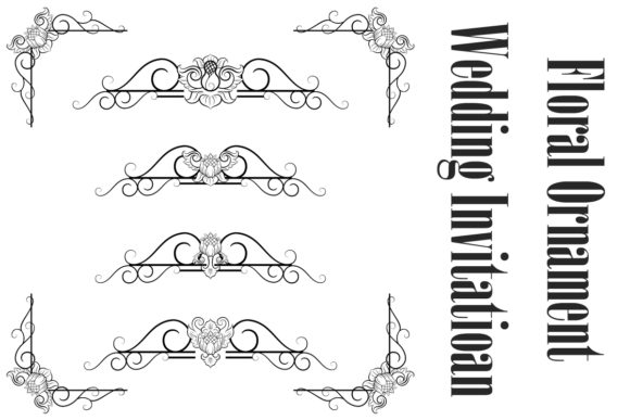Download Free Vintage Flourish Decorative Borders Graphic By Anomali Bisu for Cricut Explore, Silhouette and other cutting machines.