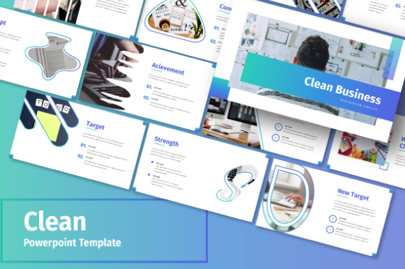Clean Business Powerpoint Template Graphic By Inkofert