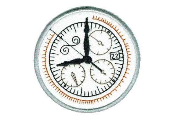 Clock Round Coaster Accessories Embroidery Design By Sue O'Very Designs