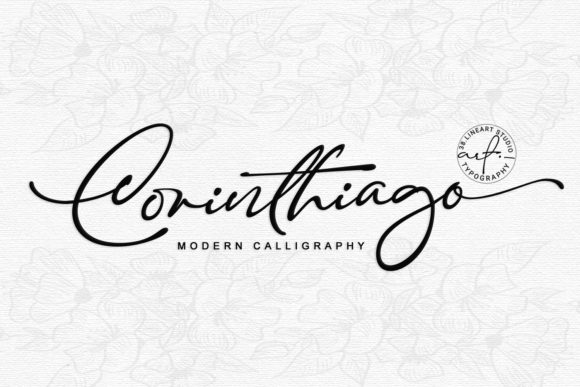 Download Free Corinthiago Font By 38 Lineart Creative Fabrica for Cricut Explore, Silhouette and other cutting machines.