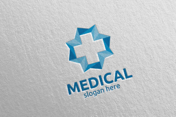 Download Free Cross Medical Hospital Logo Design 96 Graphic By Denayunecf for Cricut Explore, Silhouette and other cutting machines.