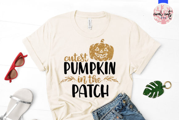 Download Free Cutest Pumpkin In The Patch Graphic By Coralcutssvg Creative for Cricut Explore, Silhouette and other cutting machines.