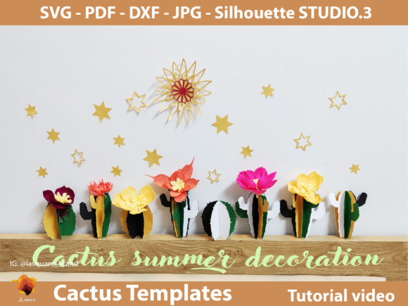 Diy Paper Cactus Templates Graphic By Lasquare Info Creative