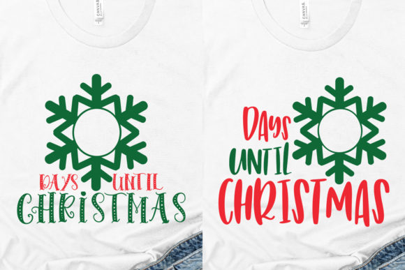 Days Until Christmas Graphic Download