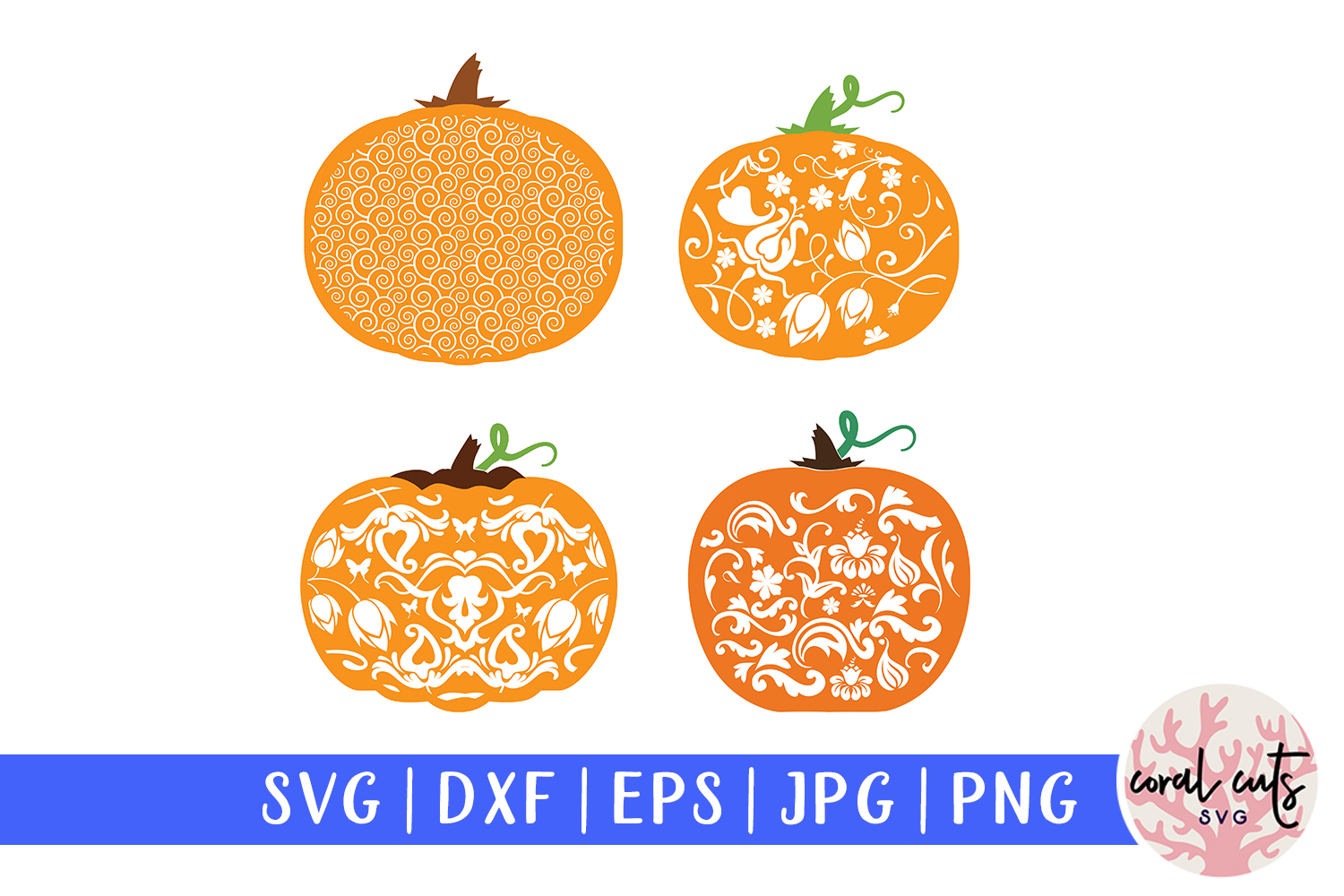 Download Free Decorative Pumpkin Graphic By Coralcutssvg Creative Fabrica for Cricut Explore, Silhouette and other cutting machines.