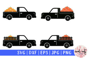 Download Free Decorative Pumpkin Truck Graphic By Coralcutssvg Creative Fabrica for Cricut Explore, Silhouette and other cutting machines.