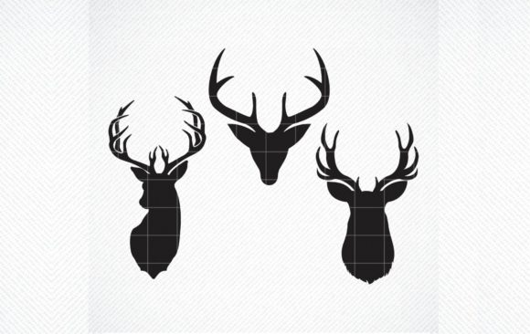 Download Free Deer Head Deer Deer Clipart Graphic By Svg Den Creative Fabrica for Cricut Explore, Silhouette and other cutting machines.