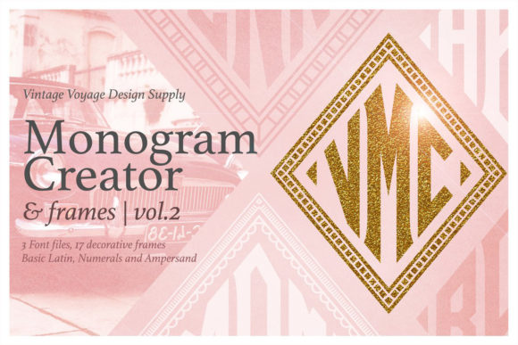 Print on Demand: Diamond Monogram Creator Display Font By vintagevoyageco