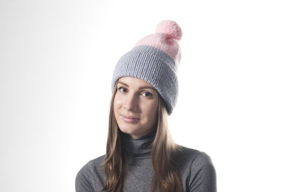 Double Brim Beanie - Knitting Pattern Graphic Knitting Patterns By onehatstore - Image 1