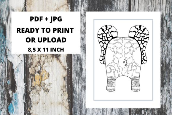 Print on Demand: Elephant Butt Zentangle Coloring Page 11 Graphic Coloring Pages & Books Adults By Fleur de Tango