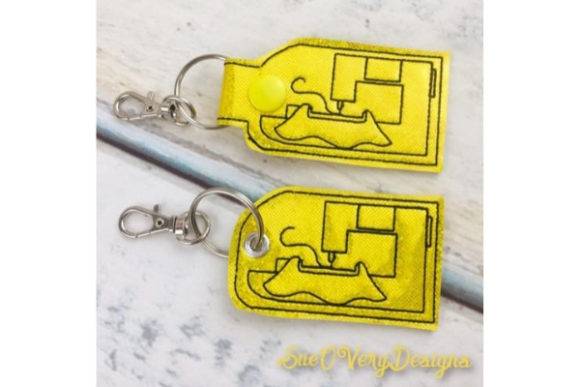 Embroidery Machine Key Fob Accessorios Diseños de bordado Por Sue O'Very Designs