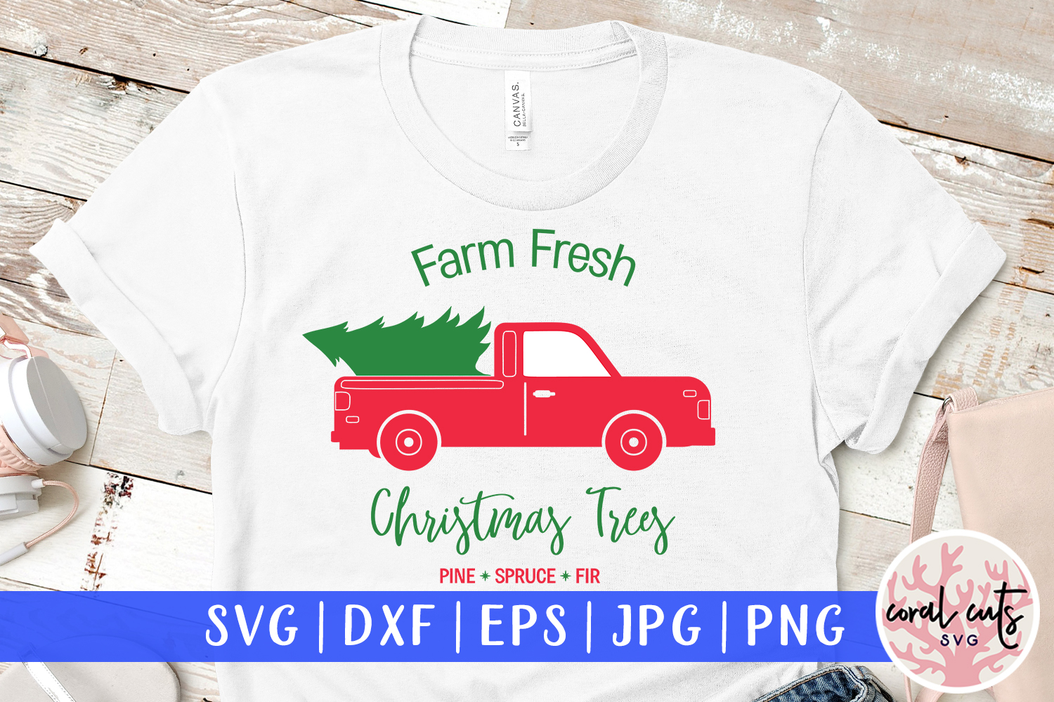 Download Free Farm Fresh Christmas Trees Pine Spruce Graphic By Coralcutssvg for Cricut Explore, Silhouette and other cutting machines.