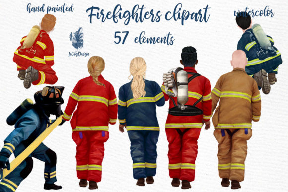 Firefighters Clipart  Graphic Illustrations By LeCoqDesign
