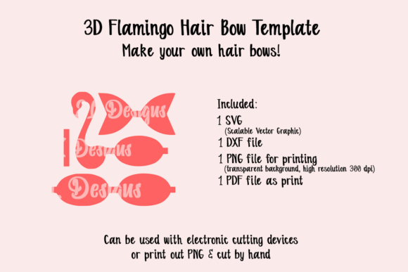 Download Free Flamingo Bow Template Graphic By Jl Designs Creative Fabrica for Cricut Explore, Silhouette and other cutting machines.