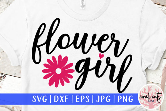 Flower Girl Graphic By Coralcutssvg Creative Fabrica