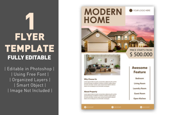 Flyer Real Estate Luxury Graphic Graphic Templates By ant project template