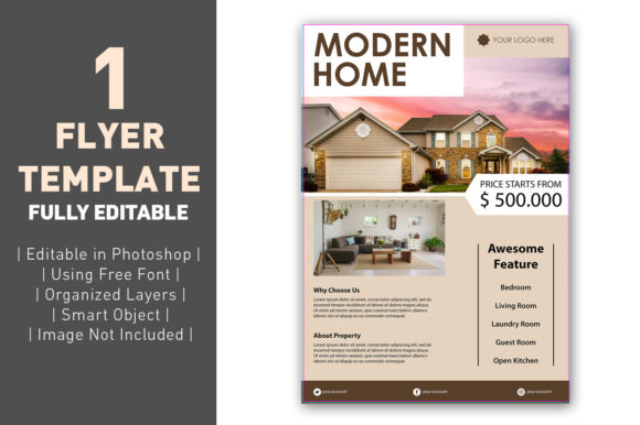 Download Free Flyer Real Estate Luxury Graphic By Ant Project Template for Cricut Explore, Silhouette and other cutting machines.