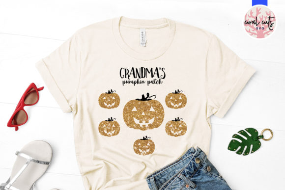 Download Free Grandma S Pumpkin Patch Graphic By Coralcutssvg Creative Fabrica for Cricut Explore, Silhouette and other cutting machines.