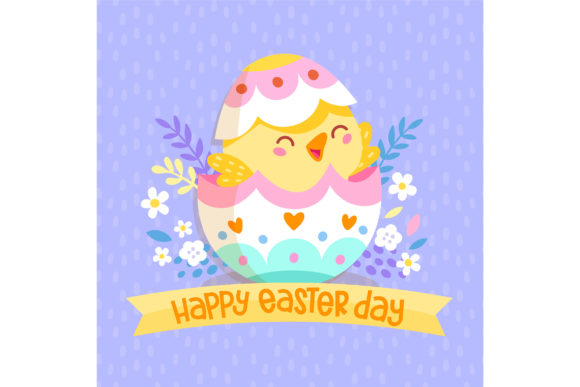 Download Free Happy Easter Day Chick Egg Graphic By Miss Chatz Creative Fabrica for Cricut Explore, Silhouette and other cutting machines.